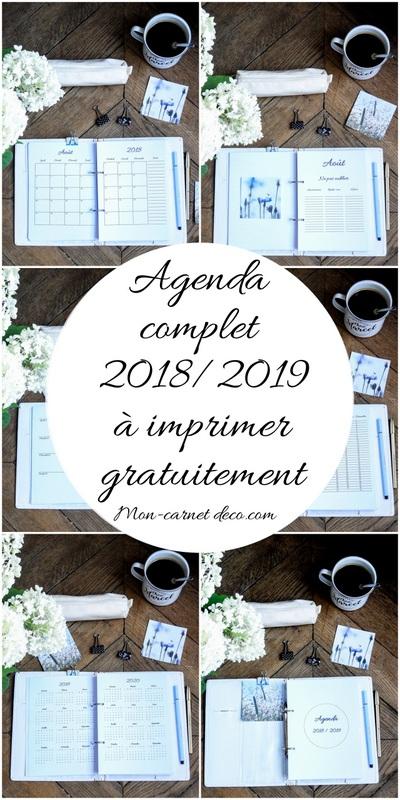 agenda 2018 2019 a imprimer gratuitement bullet journal ou planner