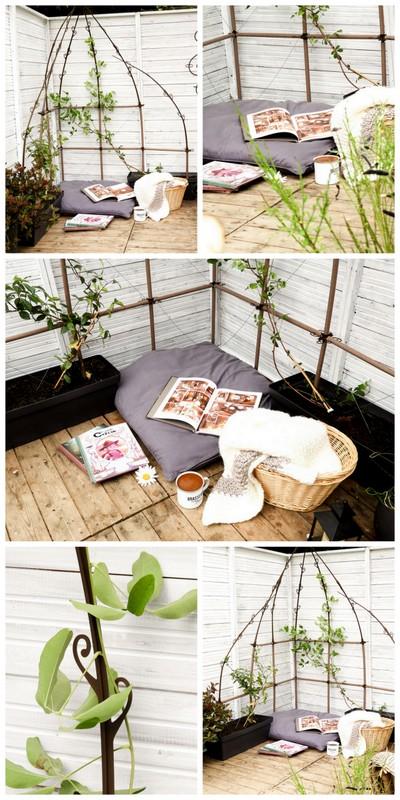 diy un coin lecture cosy pour la terrasse