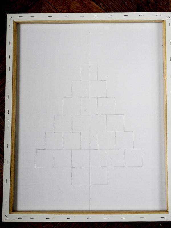 diy un tableau de noel minimaliste 1
