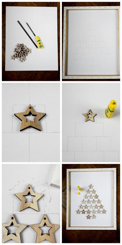 diy un tableau de noel minimaliste 2