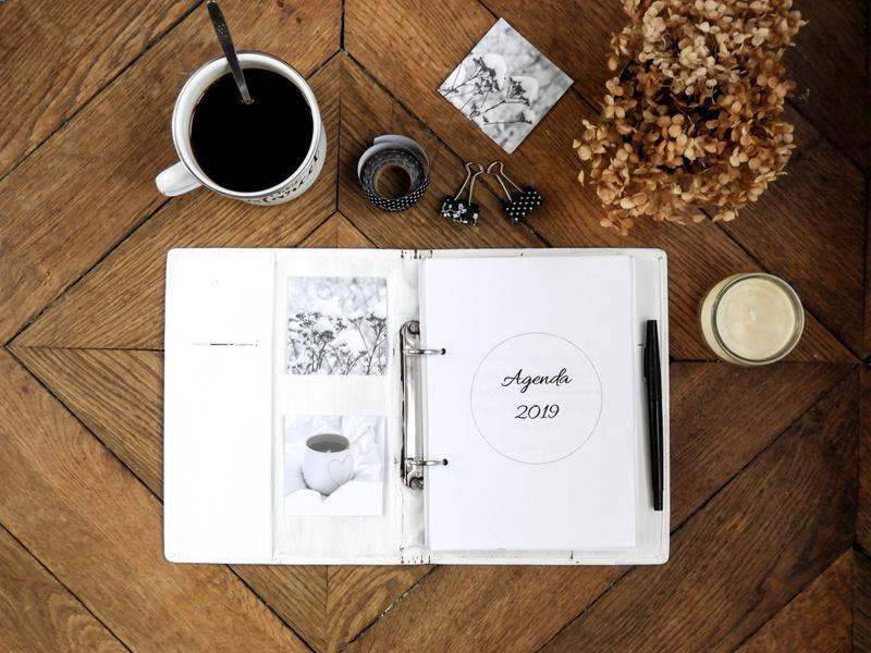 Bullet journal et agenda 2019 complet à imprimer gratuitement