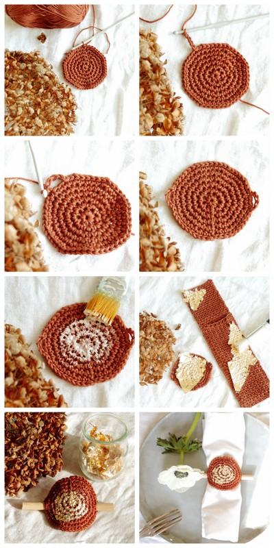 diy range couvert et rond de serviette crochet et or 1.jpg