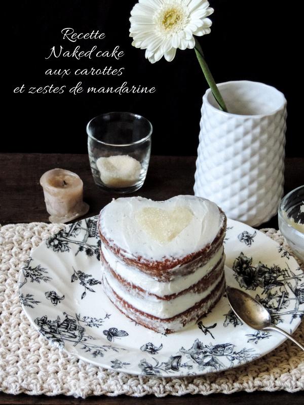 Recette de gateau aux carottes et zeste de mandarine version naked cake 5