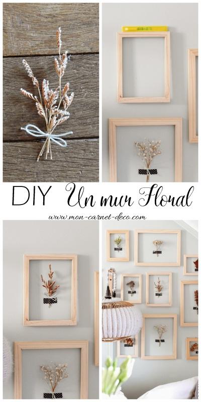 Decorer avec les fleurs sèche DIY un mur floral 1
