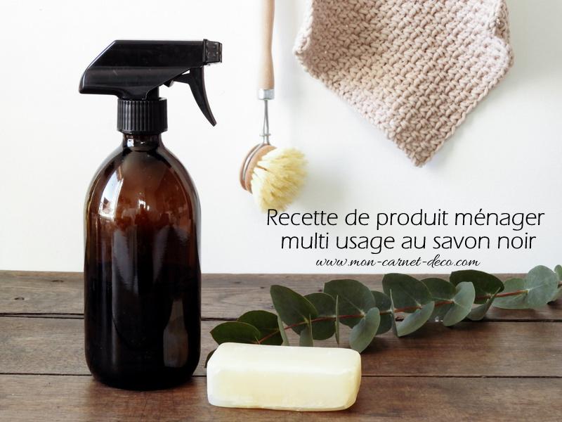 recette produit ménager au savon noir