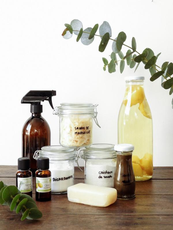 Mes essentiels pour un ménage naturel les produits