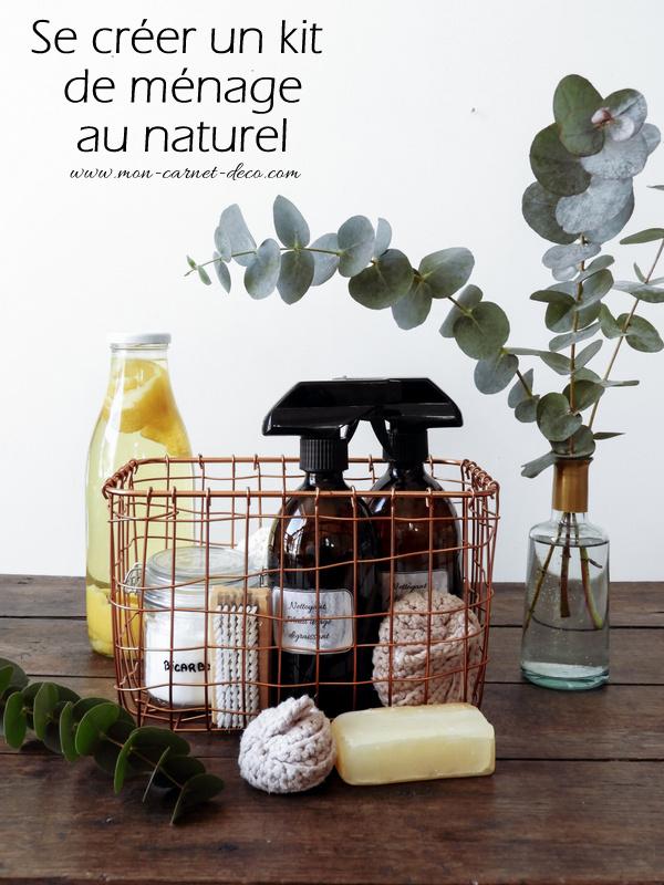 Se créer un kit de ménage au naturel