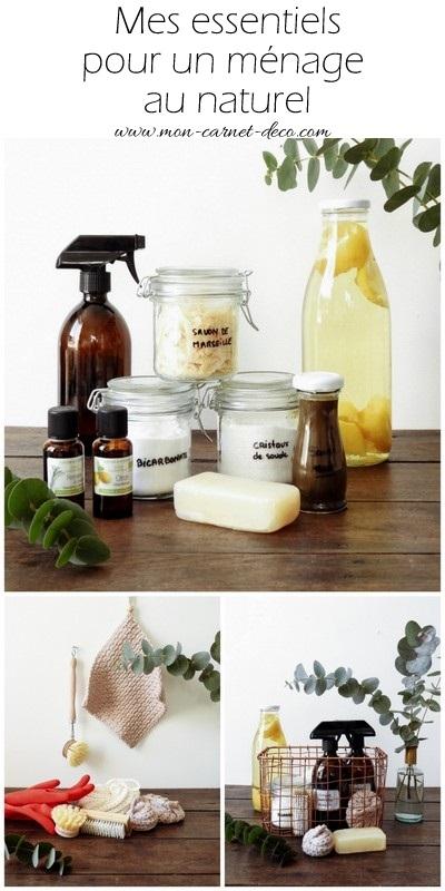 les essentiels du ménage au naturel et kit de ménage