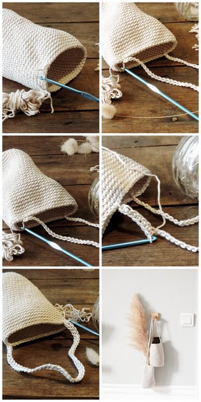 DIY panier suspendu au crochet et sa mini patère 1