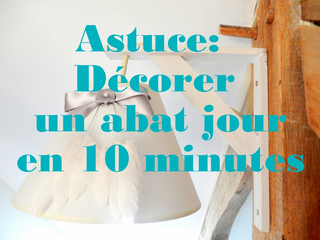 astuce d corer un abat jour en 10 minutes mon carnet d co diy organisation du quotidien. Black Bedroom Furniture Sets. Home Design Ideas