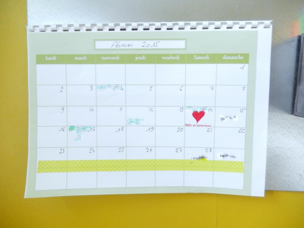 Astuces pour bien g rer son temps en famille semainier imprimer mon car - Creer son calendrier ...