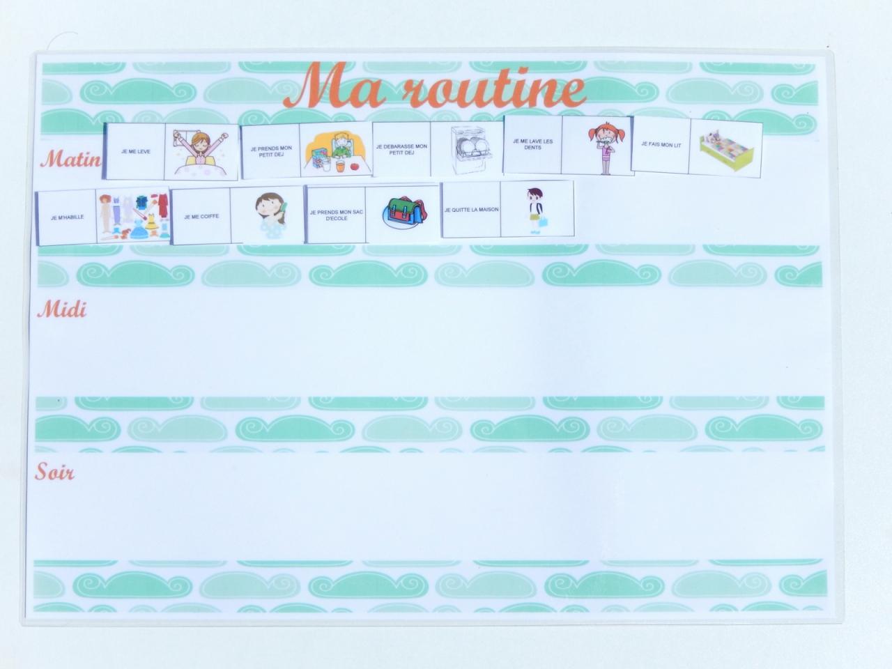 Exceptionnel Organisation rentrée : créer une routine pour les enfants : tutos  AQ79
