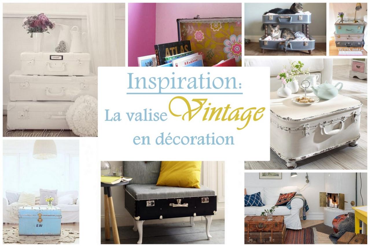 inspiration la valise vintage dans la d coration mon carnet d co diy organisation du. Black Bedroom Furniture Sets. Home Design Ideas