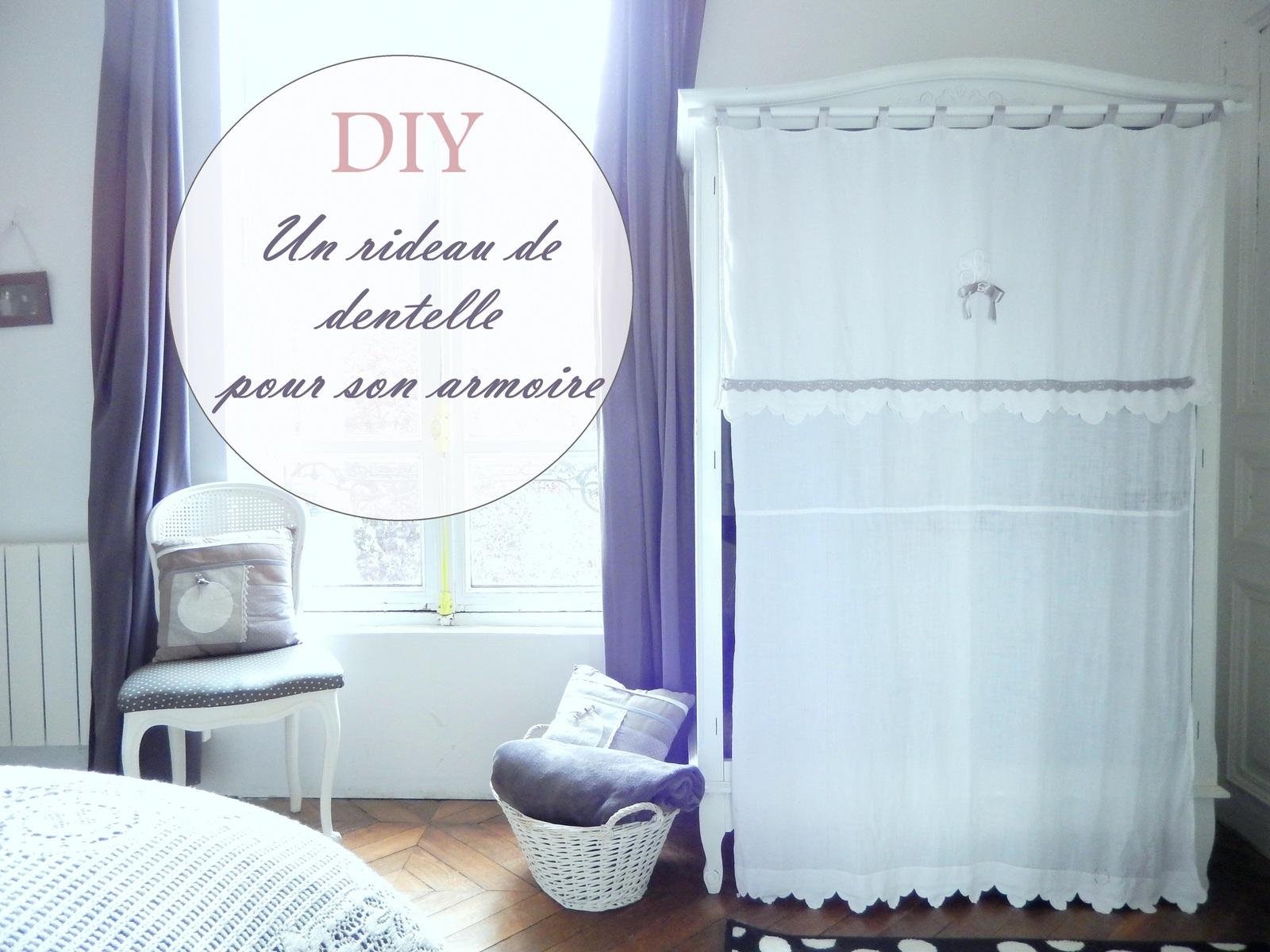 Comment Customiser Une Armoire diy un rideau avec de la dentelle pour son armoire - blog