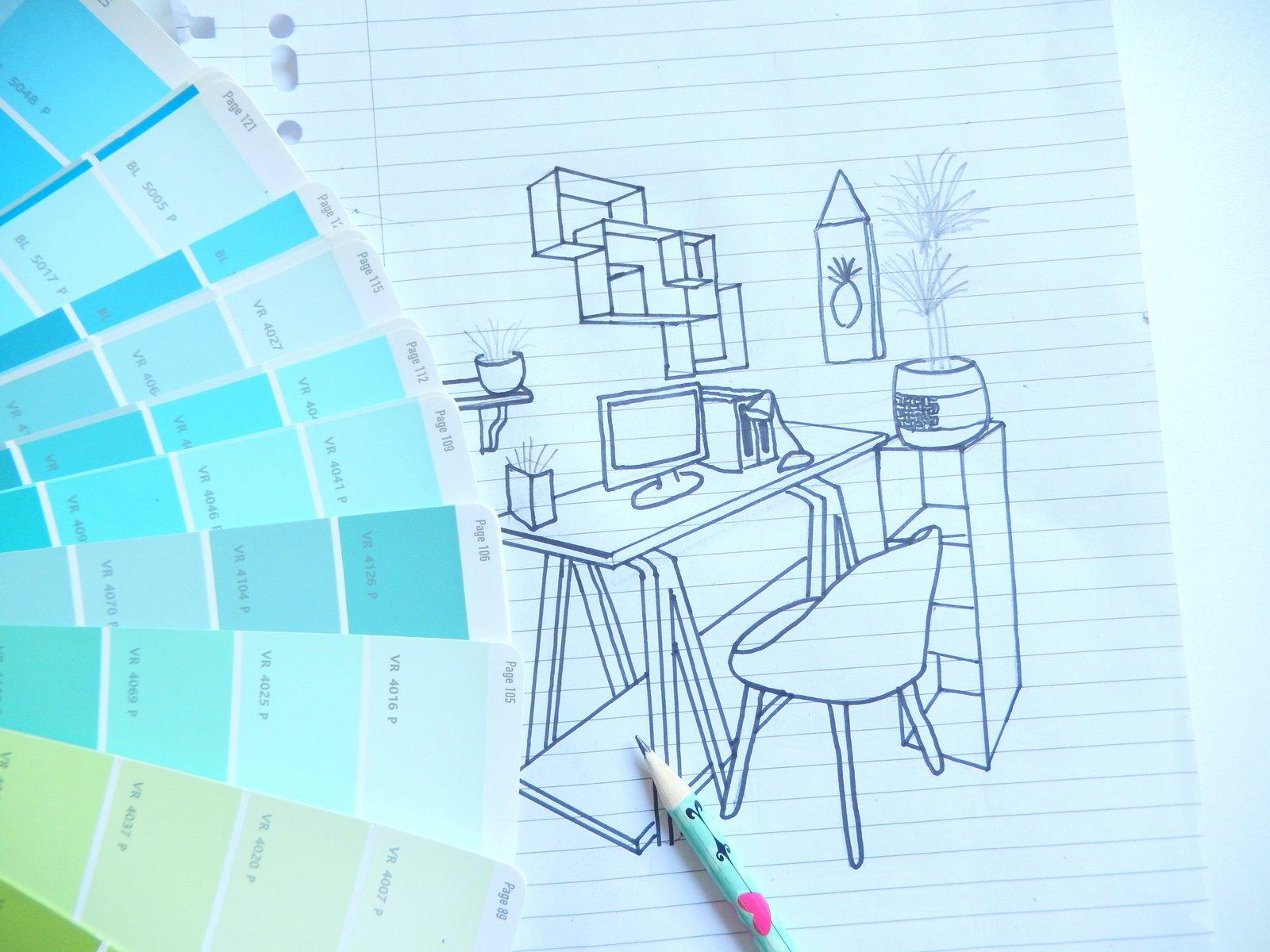 moodboard d co pour mon bureau mon carnet d co diy organisation du quotidien d coration et. Black Bedroom Furniture Sets. Home Design Ideas