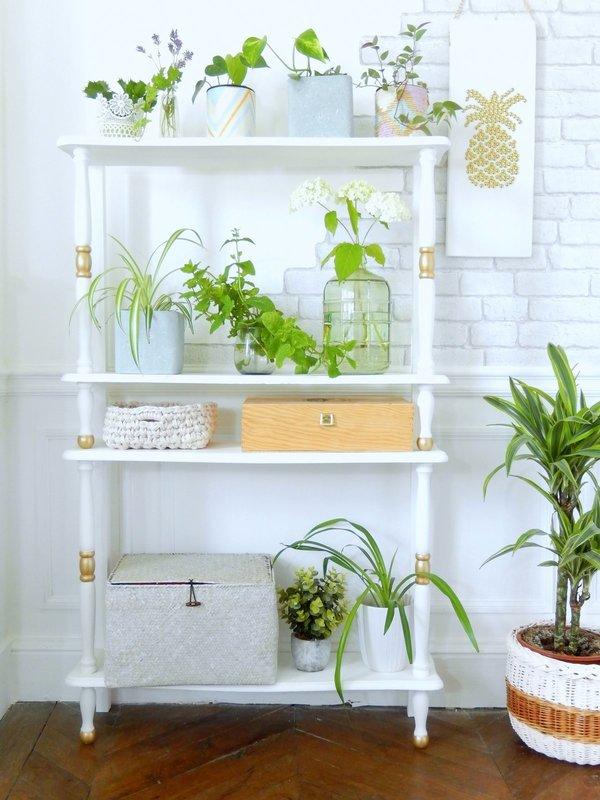 diy avant apr s d une table une tag re pour plantes mon carnet d co diy. Black Bedroom Furniture Sets. Home Design Ideas