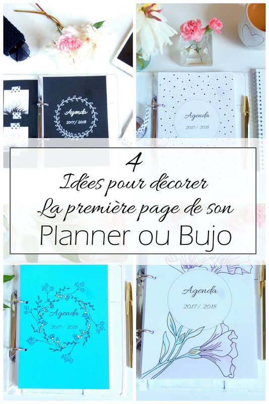 4 id es pour d corer la page de pr sentation de votre agenda mon carnet d co blog diy. Black Bedroom Furniture Sets. Home Design Ideas