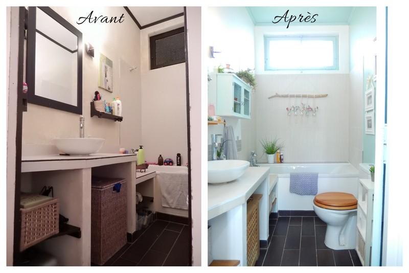 avant apr s notre nouvelle salle de bain blog d co. Black Bedroom Furniture Sets. Home Design Ideas