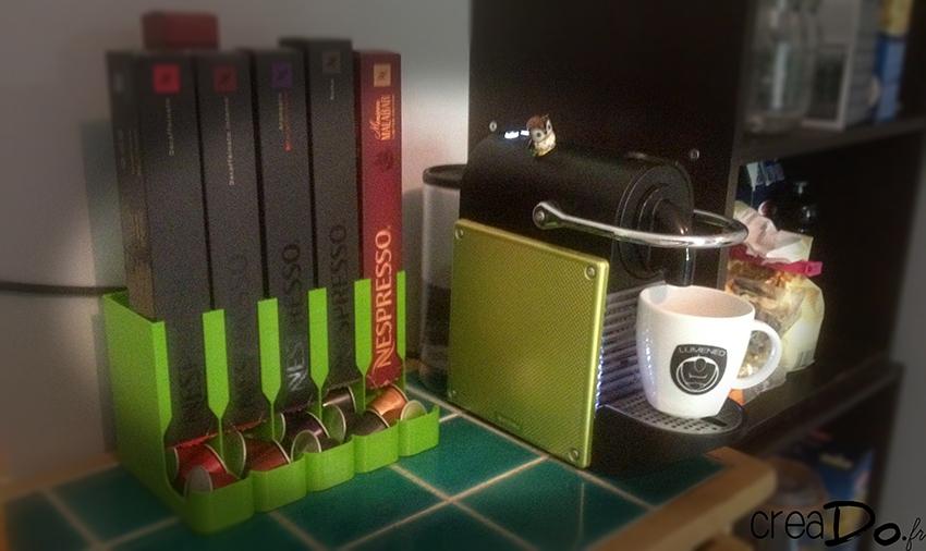 support 3d pour dosettes nespresso. Black Bedroom Furniture Sets. Home Design Ideas
