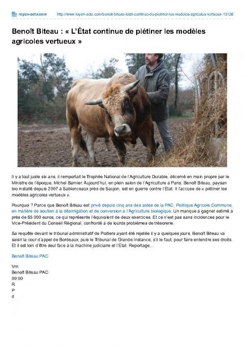royan-actu.com-Benoît Biteau  nbspLÉtat continue de piétiner les modèles agricoles vertueuxnbsp.jpg