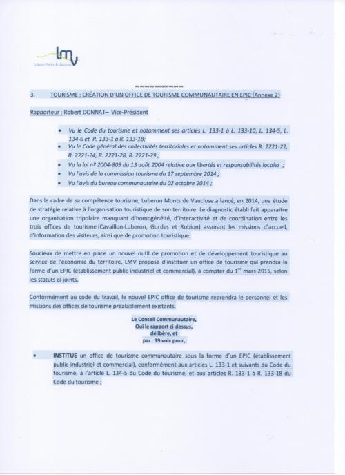 L 39 intercommunalite luberon mont de vaucluse a bouge a l 39 office de tourisme intercommunal - Office de tourisme de cavaillon ...