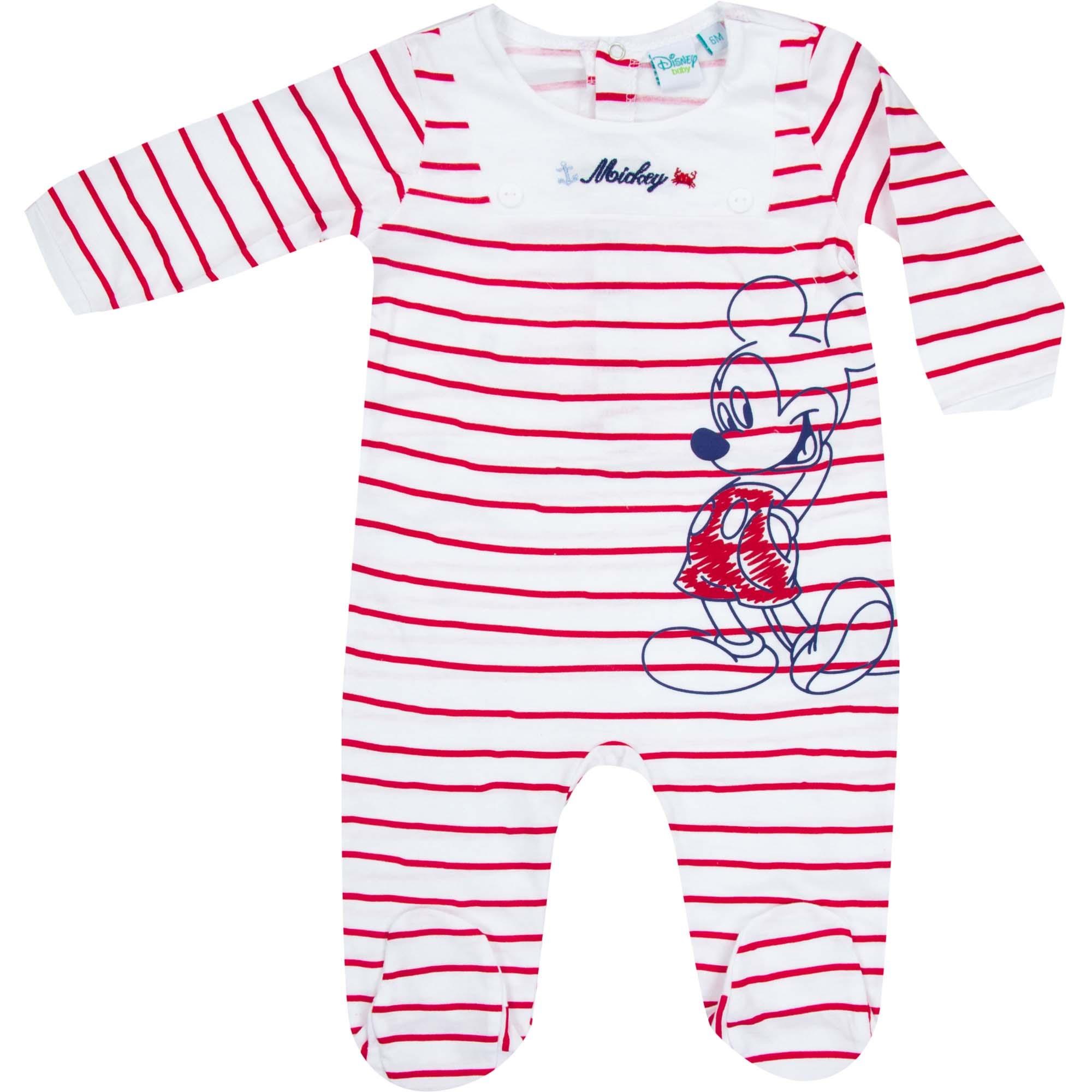 Créateur: Disney Baby Composition: 100% coton Couleur : Rouge Tailles disponibles : 0 mois (50) / 1 mois (56)  Il reste un seul exemplaire par taille ! Prix: 10€