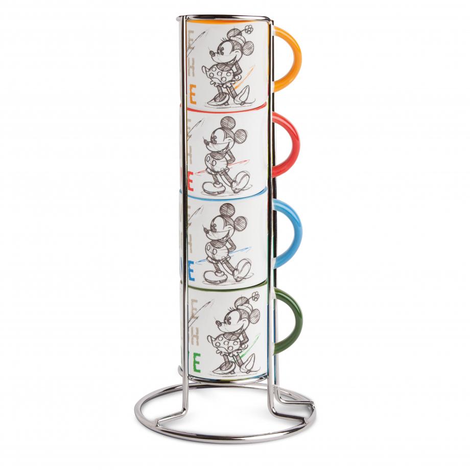 Créateur: Egan Composition: tasses en céramique / présentoir métaliique Référence: PWM02I/4LL Prix: 28€