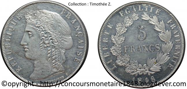 5 francs 1848 - Concours Dieudonne - Etain.jpg