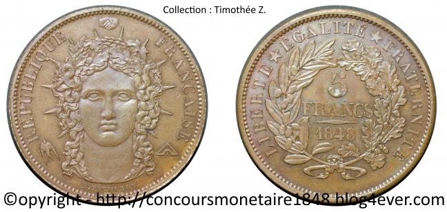 5 francs 1848 - Concours Farochon - Cuivre.jpg