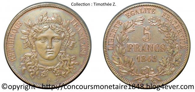5 francs 1848 - Concours Gayrard - Cuivre.jpg