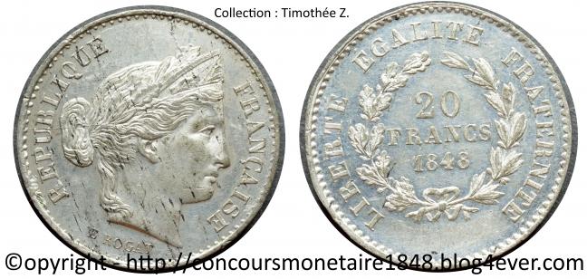 20 francs 1848 - Concours Rogat - Etain .jpg