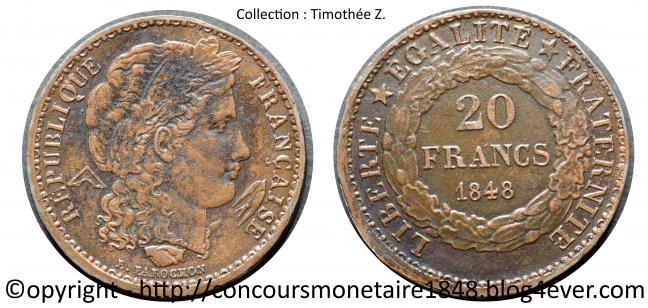 20 francs 1848 - Concours Farochon - Cuivre .jpg