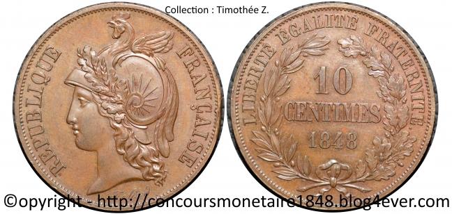 10 centimes  1848 - Concours Alard - Cuivre.jpg