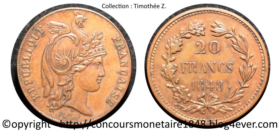 20 francs 1848 - Concours Alard - Cuivre  .jpg