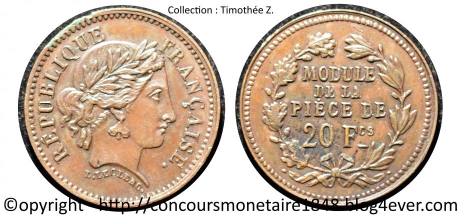 20 francs 1848 - Concours Leclerc - Cuivre.jpg
