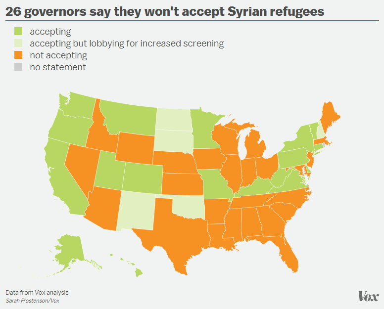 26 Governors won't accept refugees.jpg