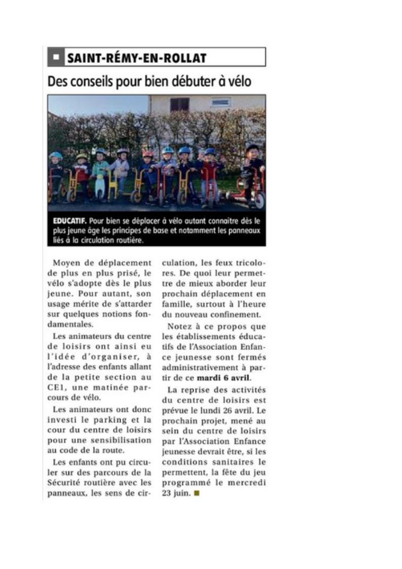 Article vtt st remy