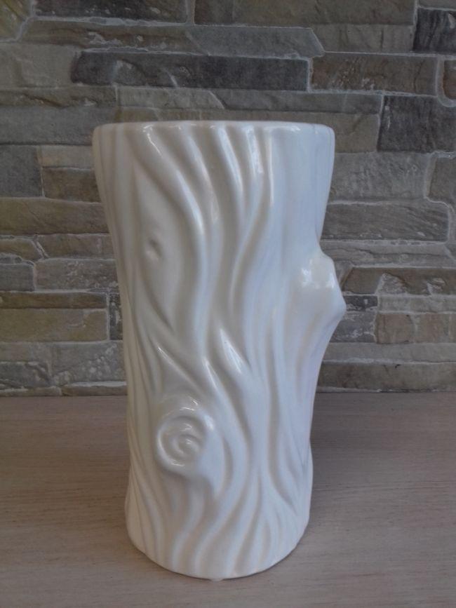 Vase céramique tronc d'arbre. Hauteur 20 cm. 24 €