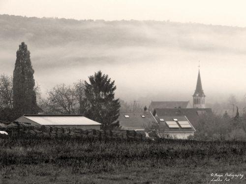La commune de Boersch à l'heure où blanchit la campagne...