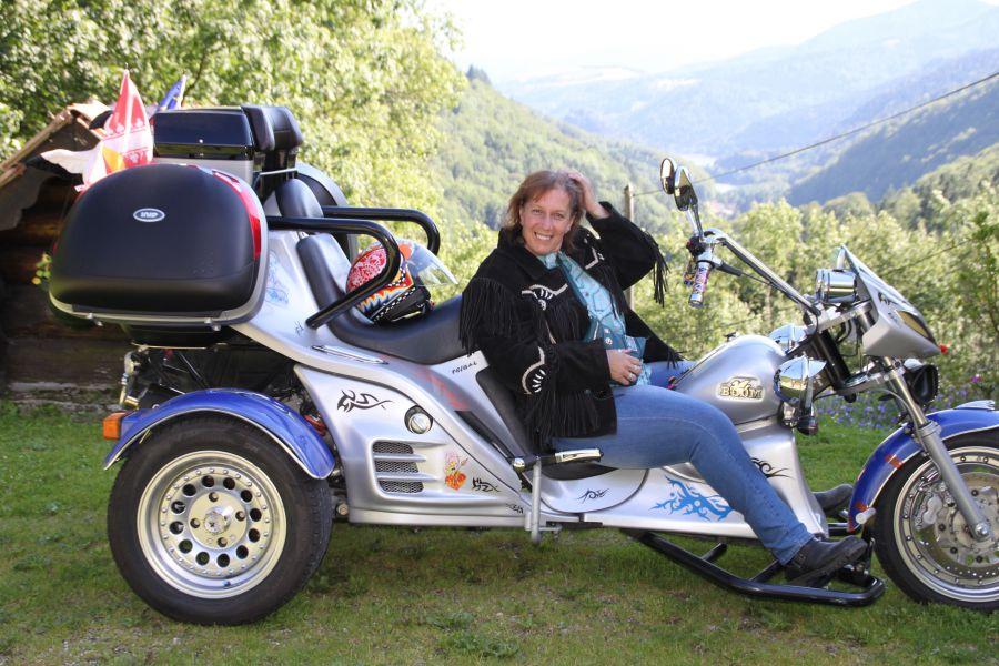 Maryse et son Trike de Louhans 71