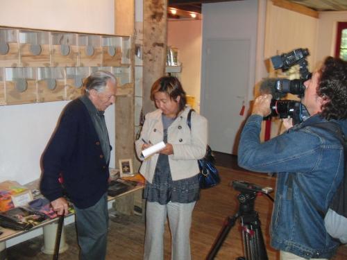 André Poumeyrol interviewé par Nora Genet caméra Pascal Tinon.JPG