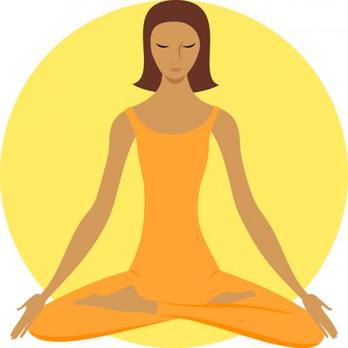 dessin femme yoga