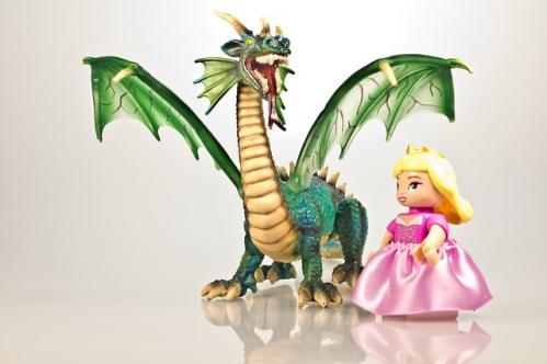 dragon et princesse de contes