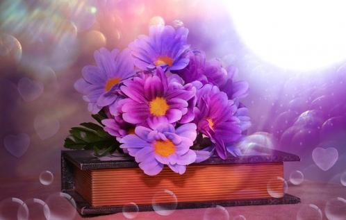 fleurs sur livres de contes