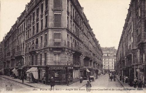 Angle des rues Gustave Courbet et de Longchamp.PNG