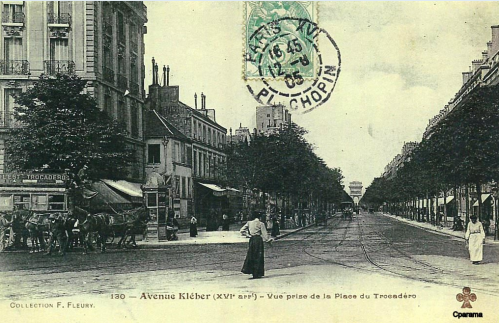 Avenue Kléber XVI° arrt - Vue prise de la place du Trocadéro.PNG