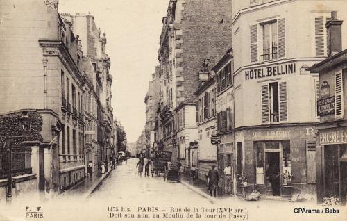 Rue de la Tour doit son nom au Moulin de la Tour de Passy.PNG