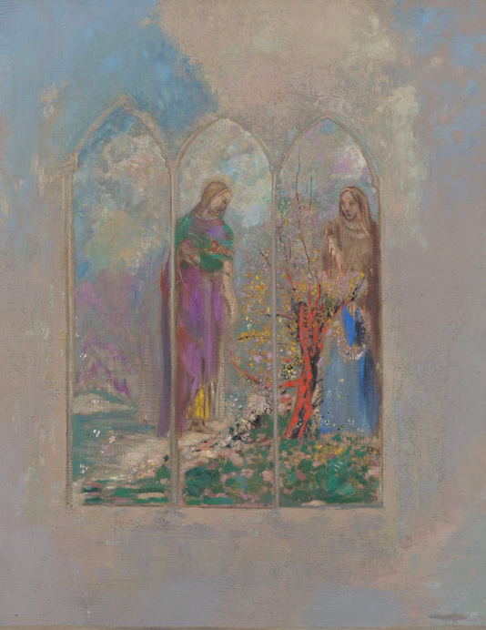 Le vitrail' by Odilon Redon 1905.PNG