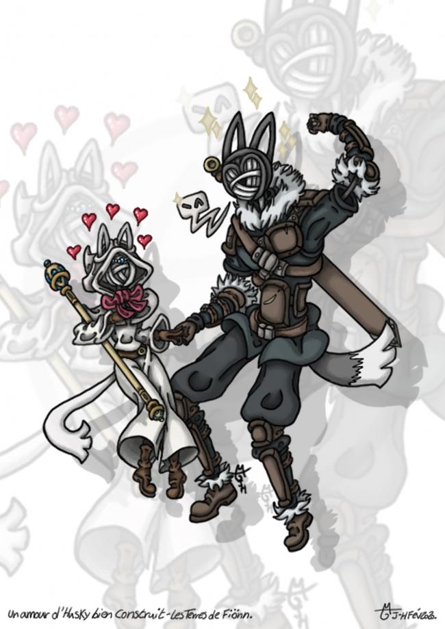 Un amour d'Husky bien construit - Les Terres de Fiönn