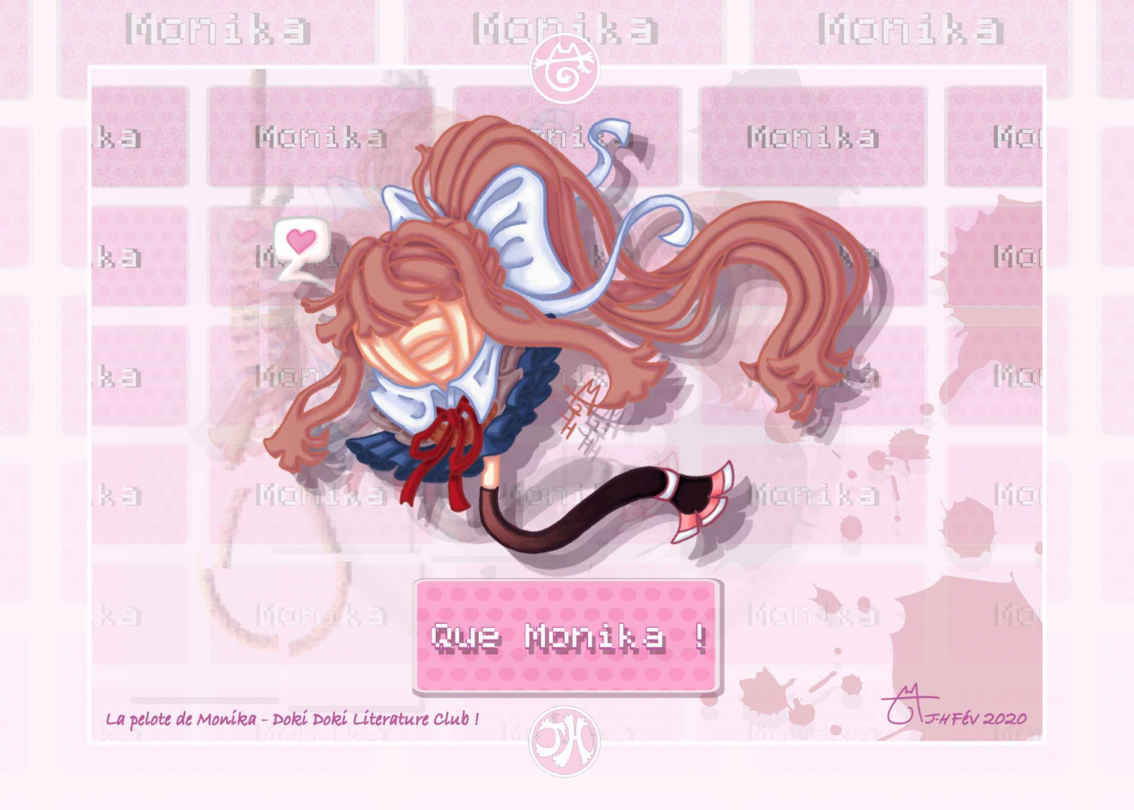 La pelote de laine de Monika - Doki Doki Literature Club !